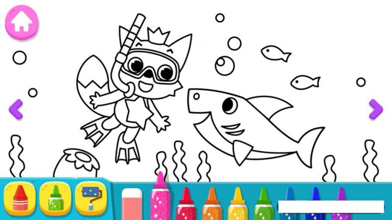 Baby Shark Coloring Pages Pink Fong