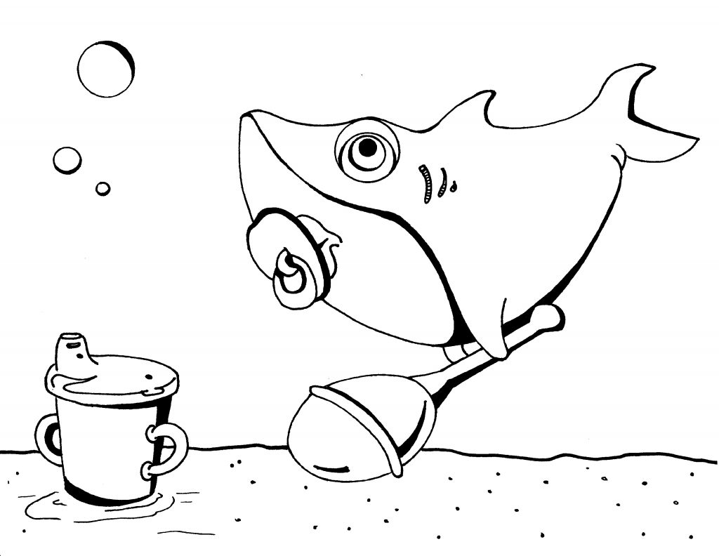 Baby Shark Coloring Pages Printable