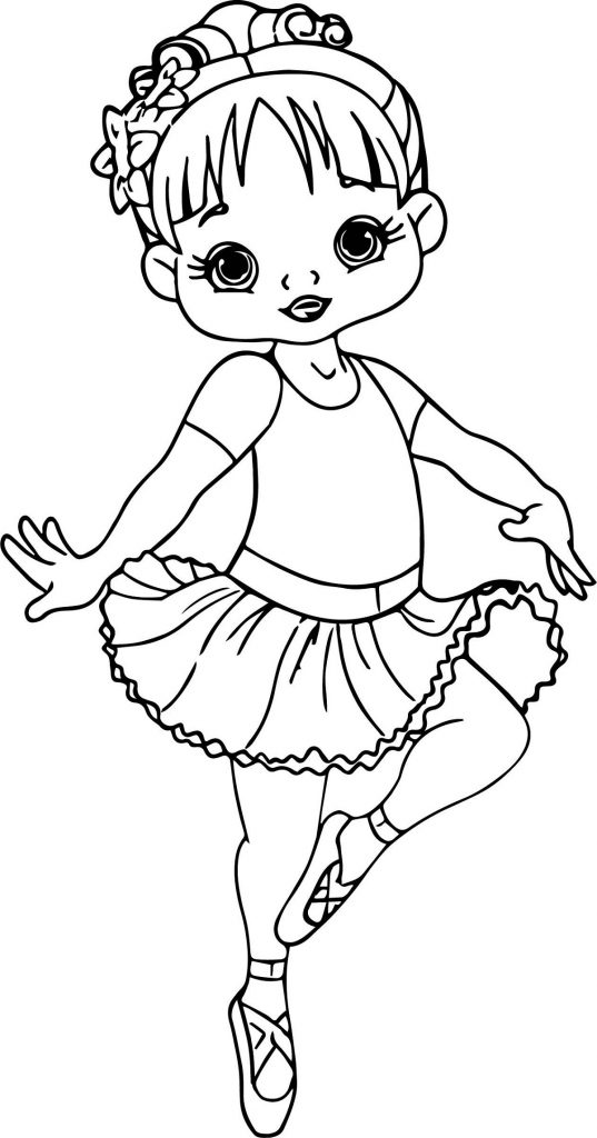 Ballerina Coloring Pages Cartoon