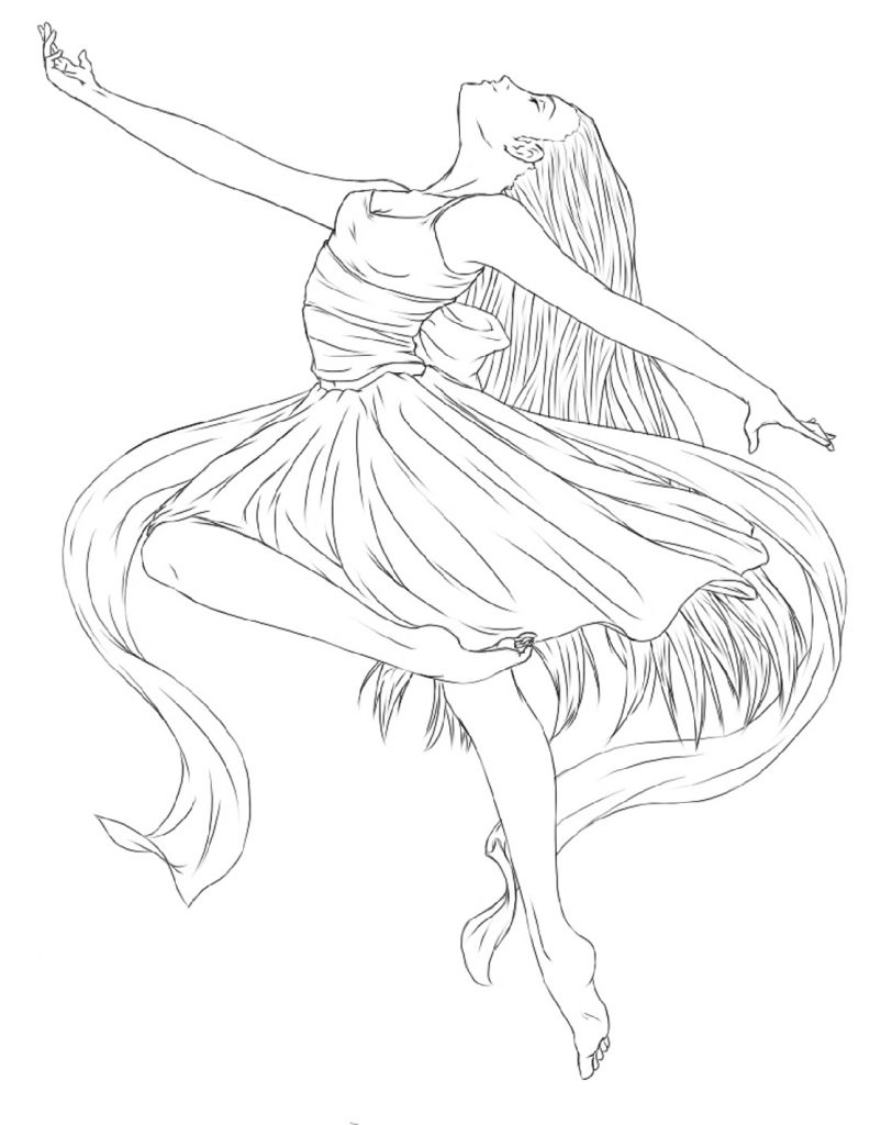 Ballerina Coloring Pages Dancer
