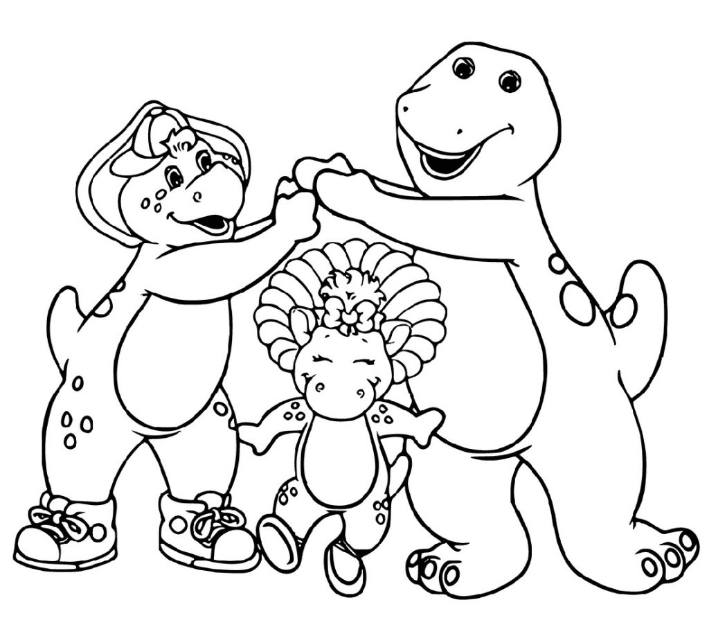 Barney Coloring Pages And Friends