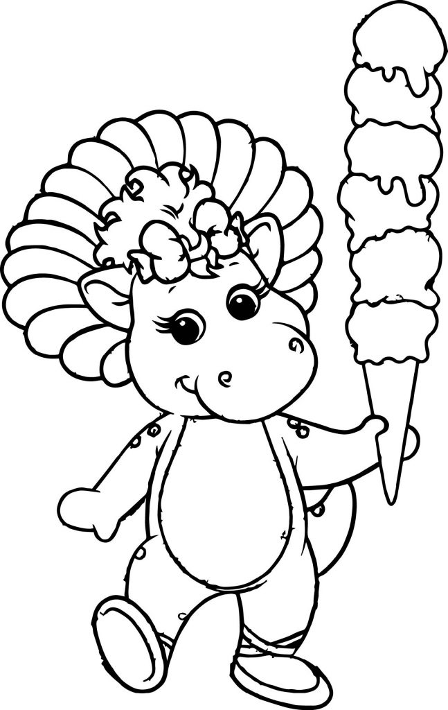 Barney Coloring Pages Baby Bop