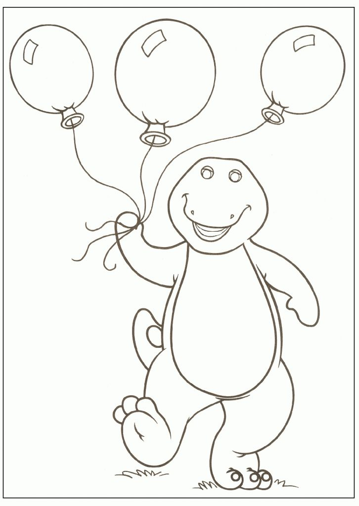 Barney Coloring Pages The Dinosaur