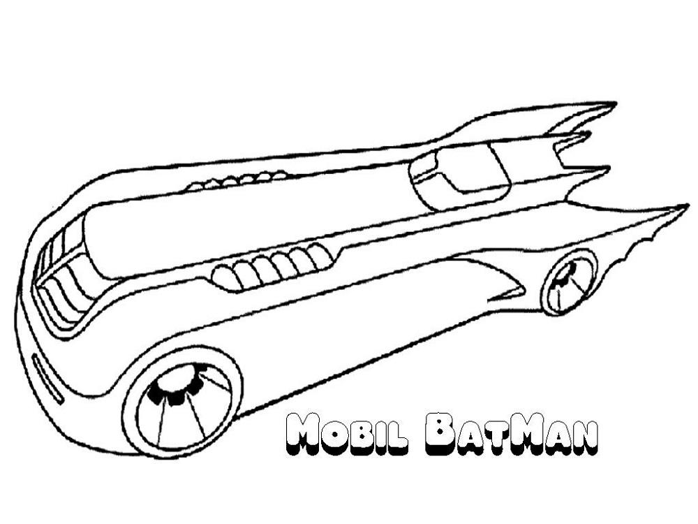 Batman Coloring Book Batmobile
