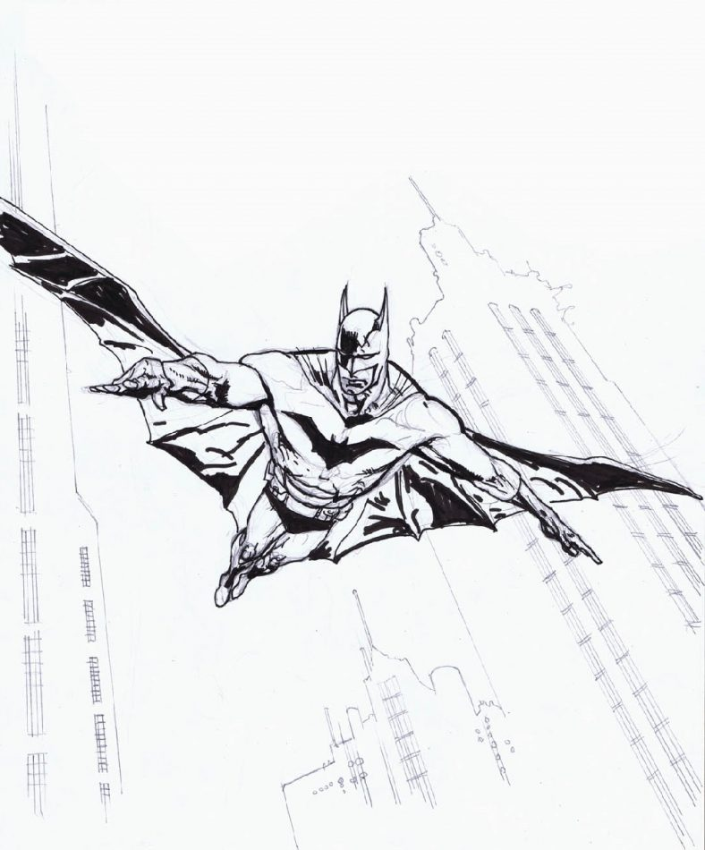 Batman Coloring Book Flying