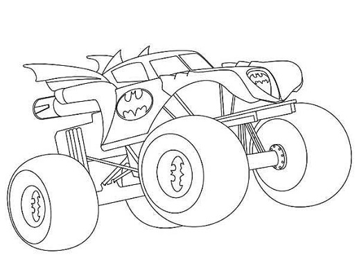 Batman Monster Truck Coloring Pages