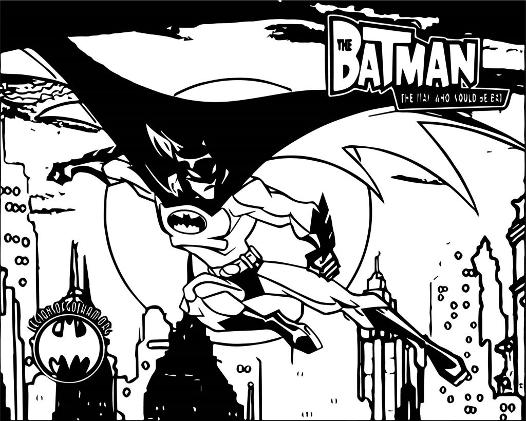 Batman Pictures To Color In Gotham City