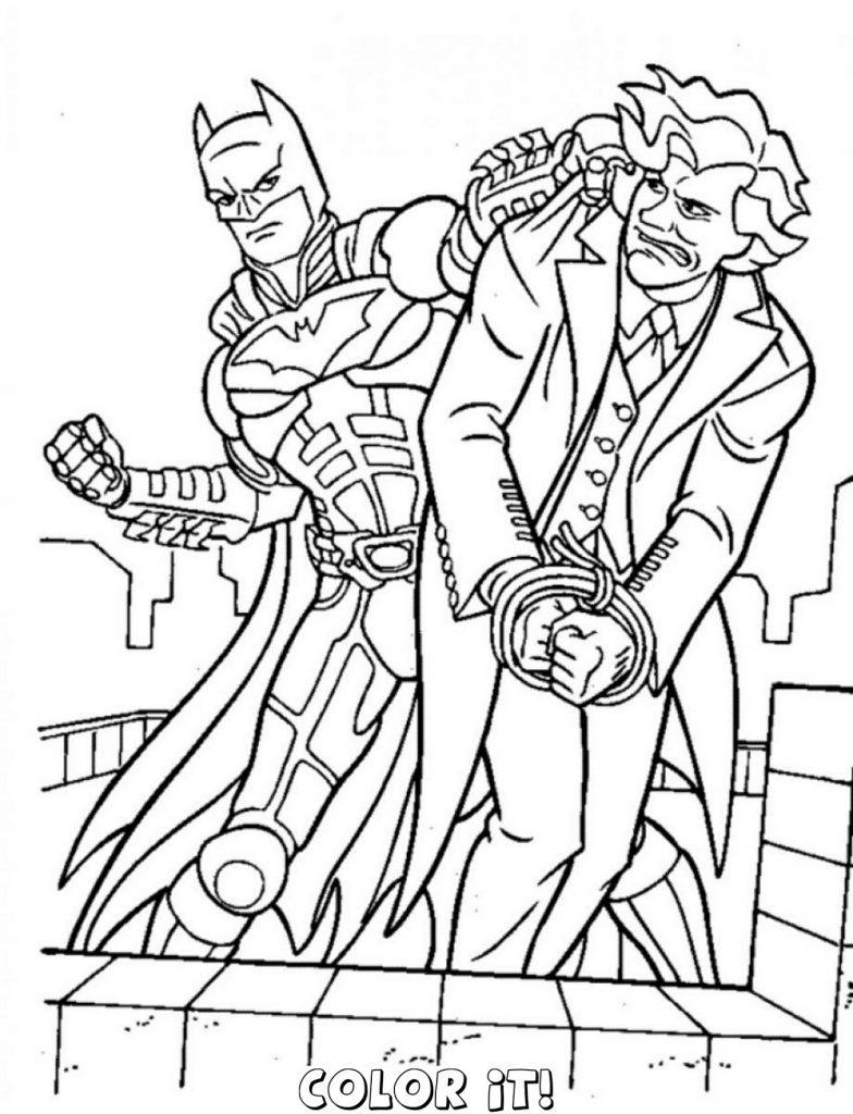 Batman Vs Joker Coloring Pages