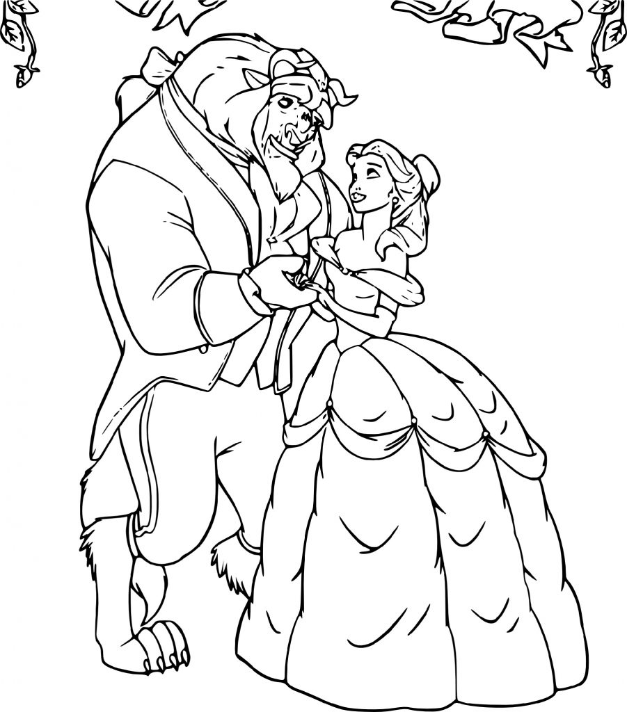 Belle Coloring Pages And Prince