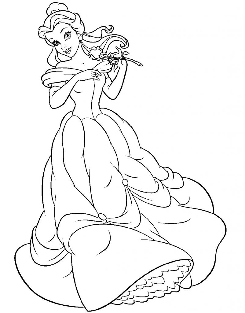 Belle Coloring Pages Dress