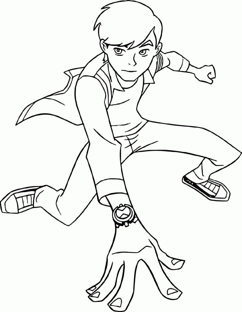 Ben 10 Coloring Pages Upgrade