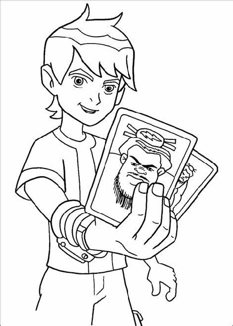 Ben Ten Coloring Pages Printable