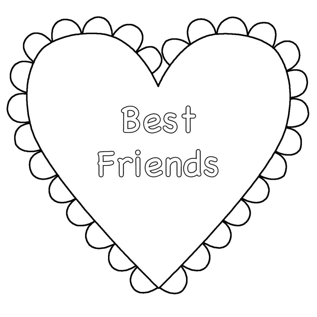Best Friend Coloring Pages Cute