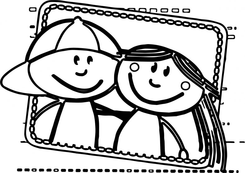 Best Friend Coloring Pages For Kids