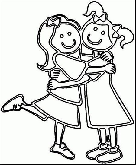 Best Friend Coloring Pages Girls
