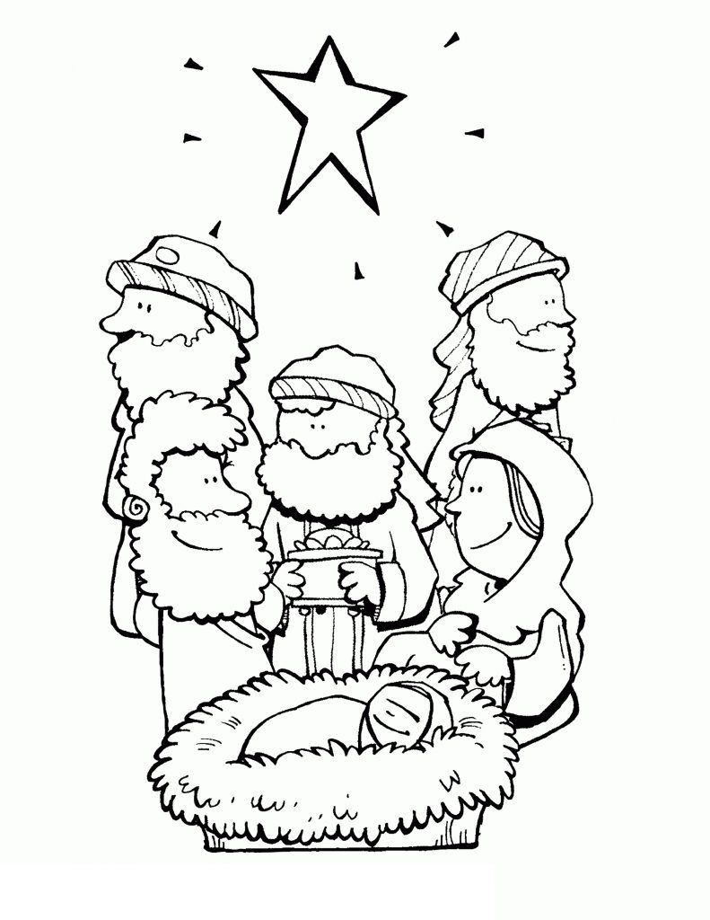 Bible Coloring Pages Christmas