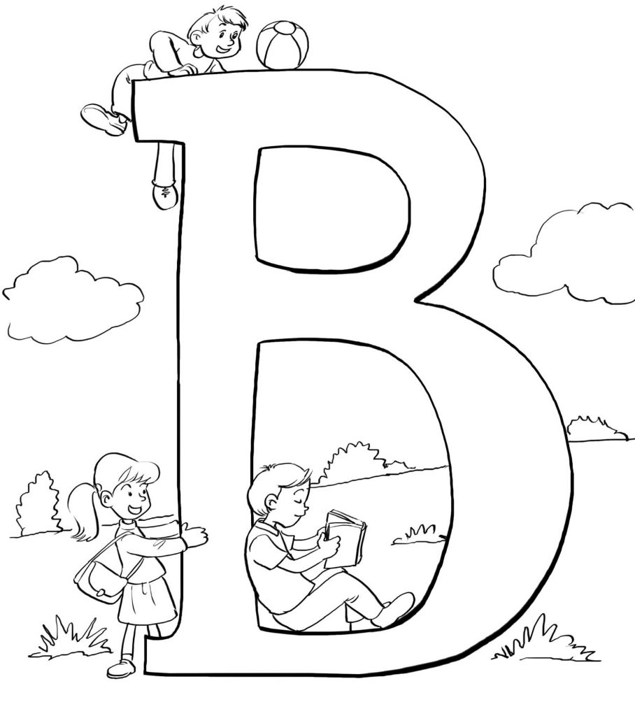 Bible Coloring Sheets B Is For Bible