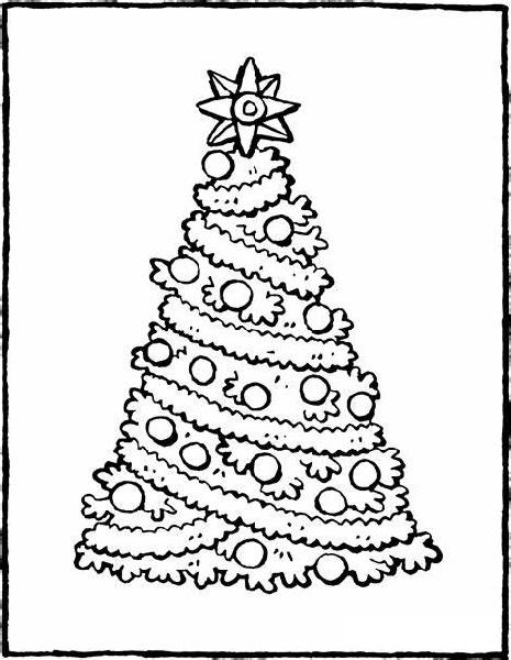 Big Christmas Tree Coloring Sheet