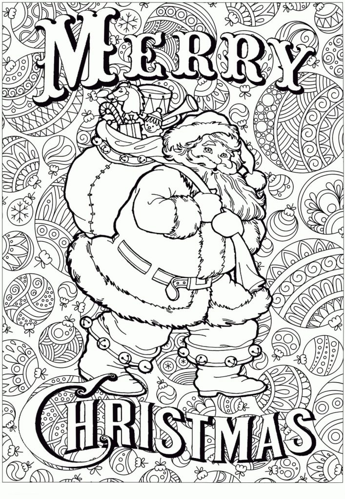 Big Santa Free Christmas Coloring Pages For Adults