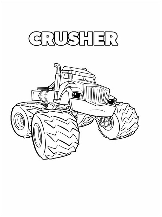 Blaze Coloring Pages Crusher