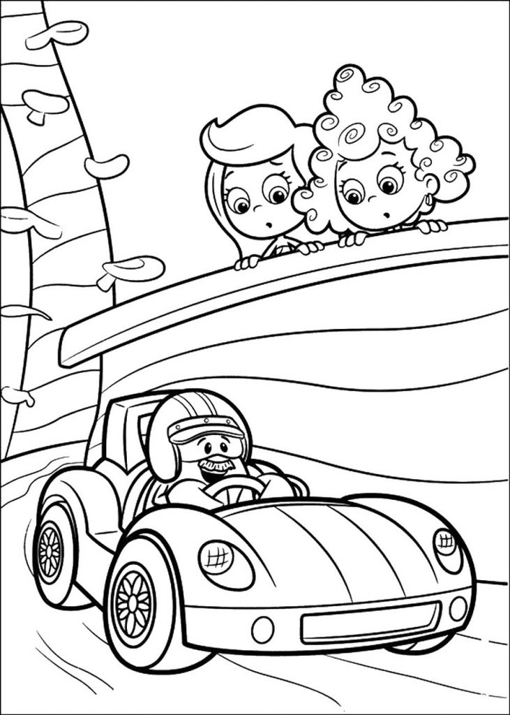 Bubble Guppies Coloring Pages Disney