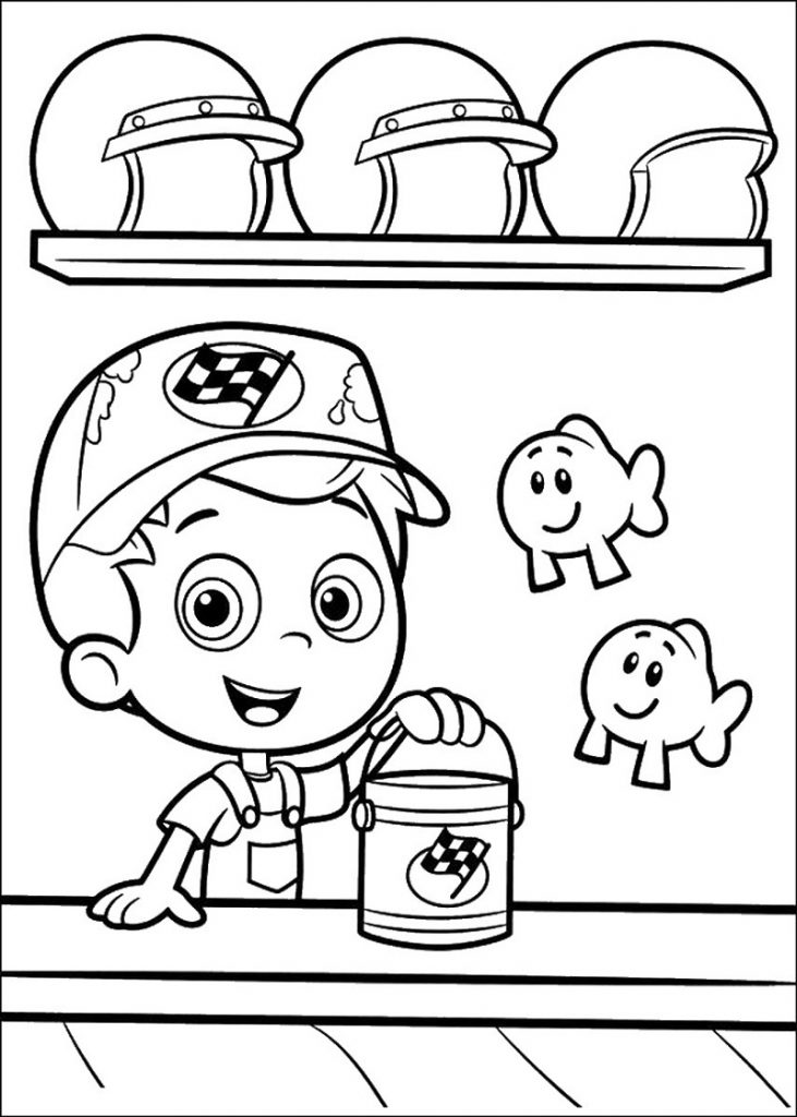 Bubble Guppies Coloring Pages Free