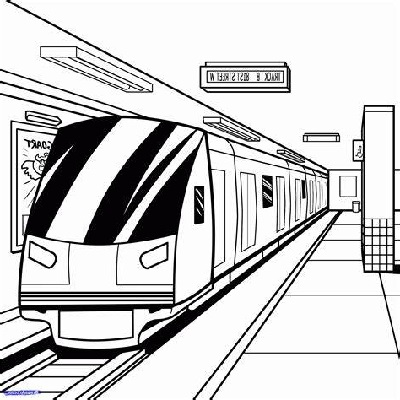Bullet Train Coloring Pages