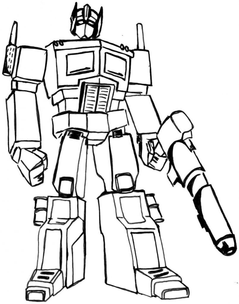 Bumblebee Coloring Pages Robot