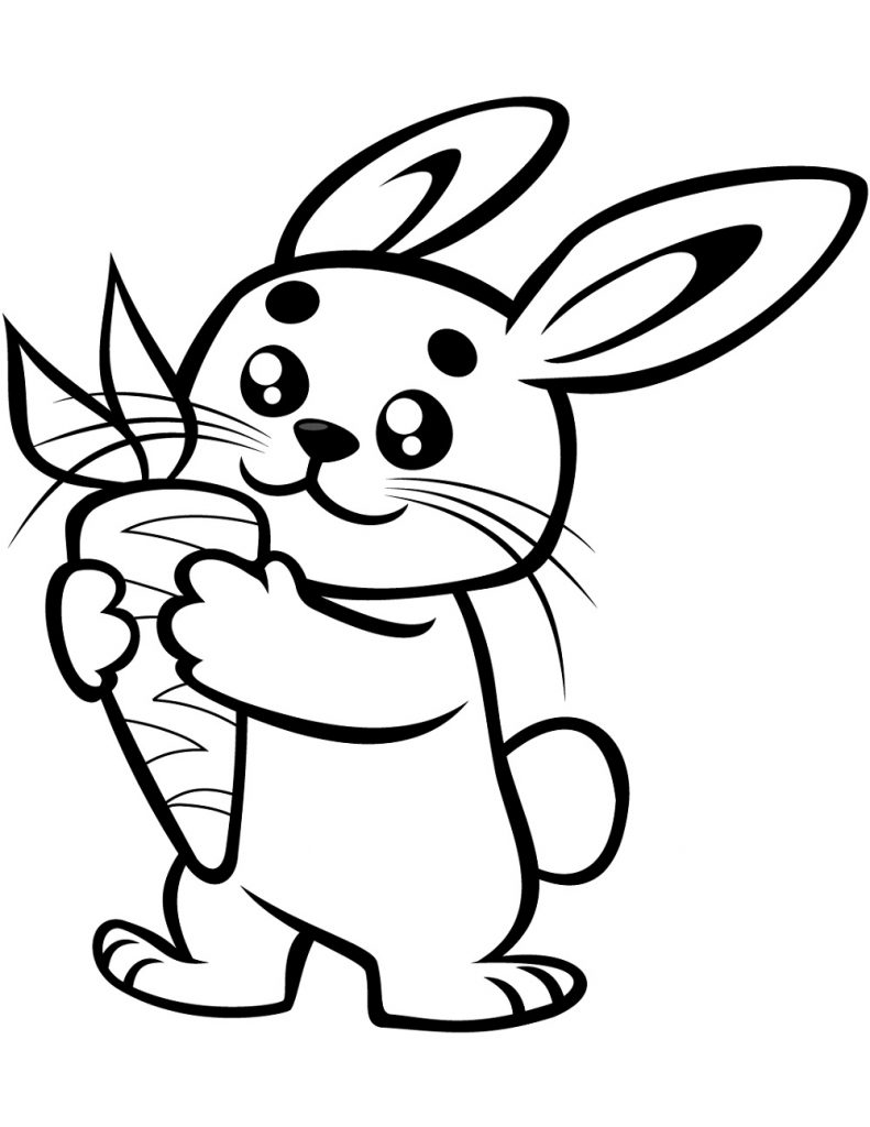 Bunny Coloring Pages Carrot