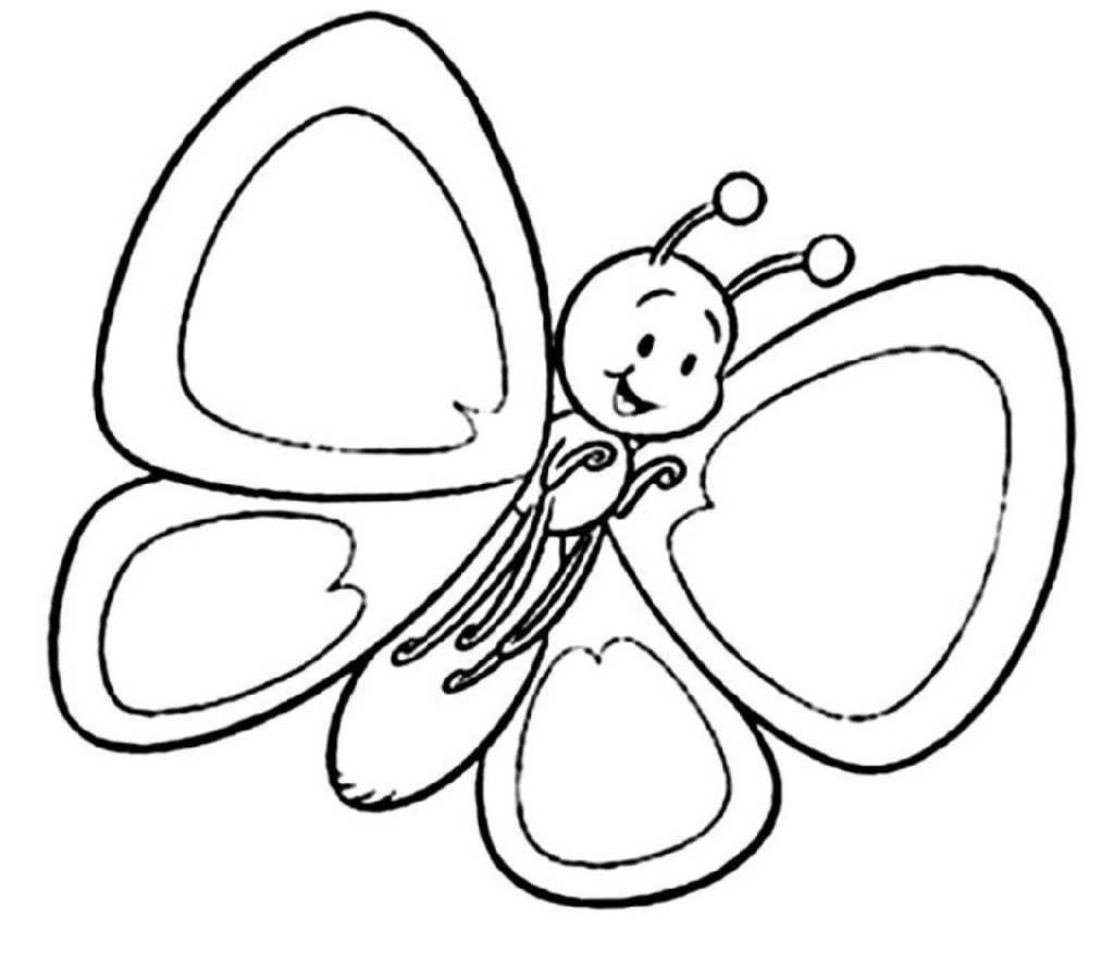 Butterfly Coloring Pages Cartoon