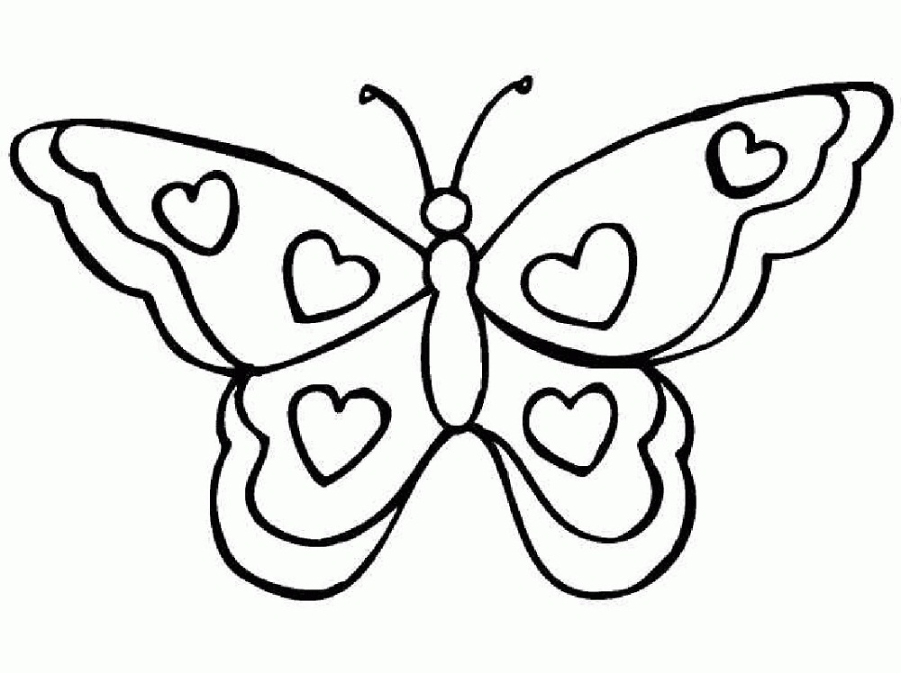 Butterfly Coloring Sheet Simple
