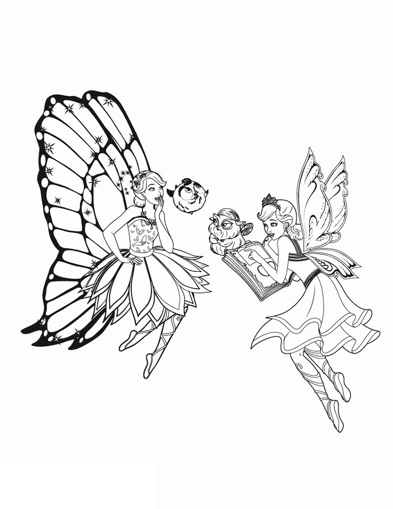 Butterfly Fairy Coloring Pages