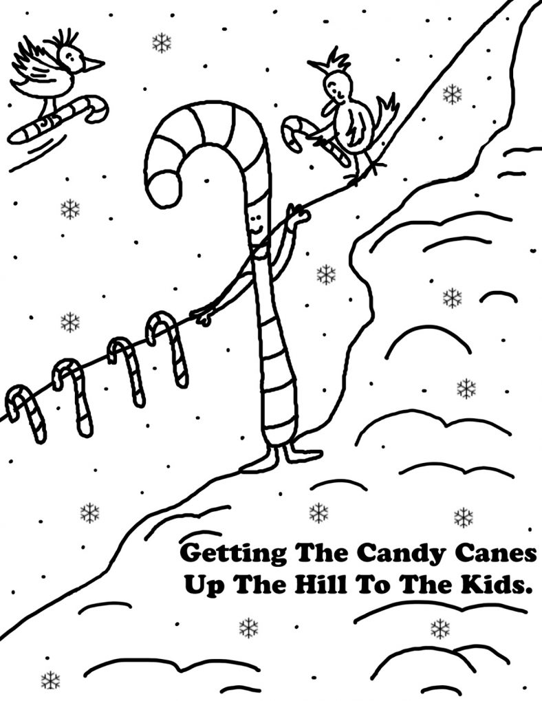 Candy Cane Coloring Pages Holiday