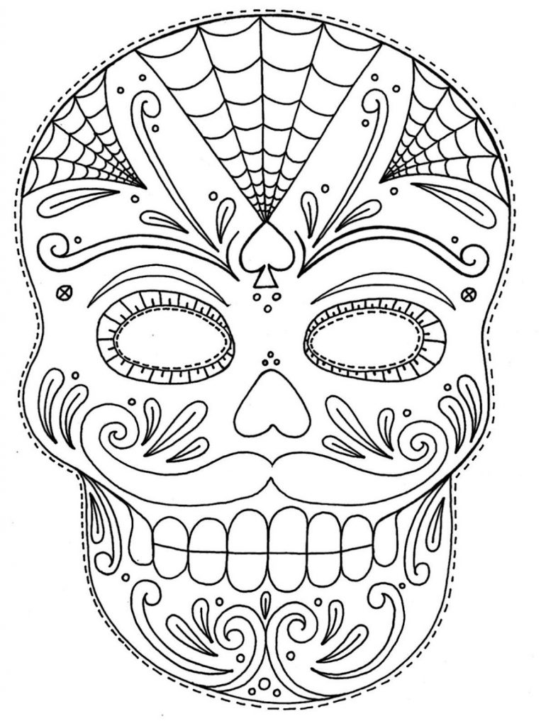 - Skull Coloring Pages For Adults 101 Coloring