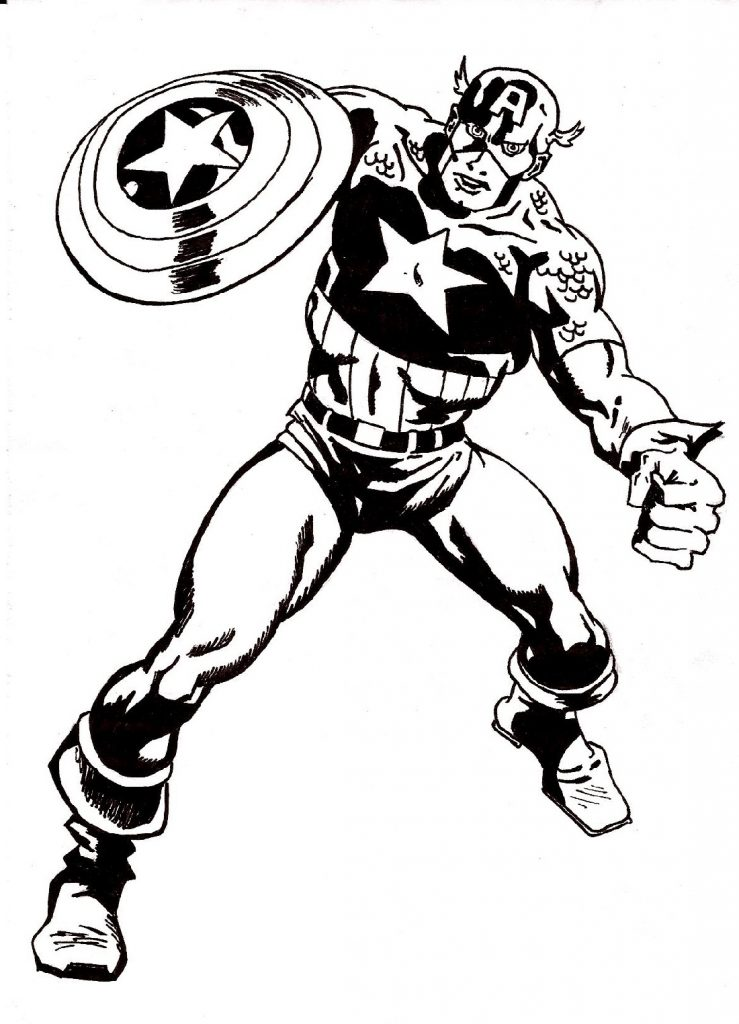 Captain America Coloring Pages Marvel