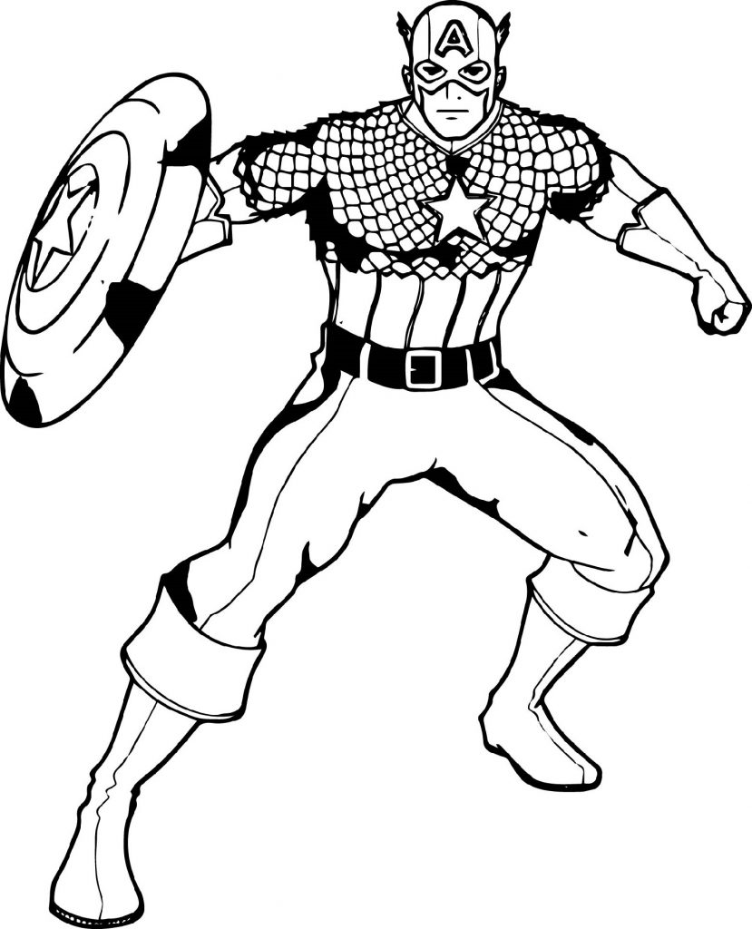 Captain America Coloring Pages Superhero