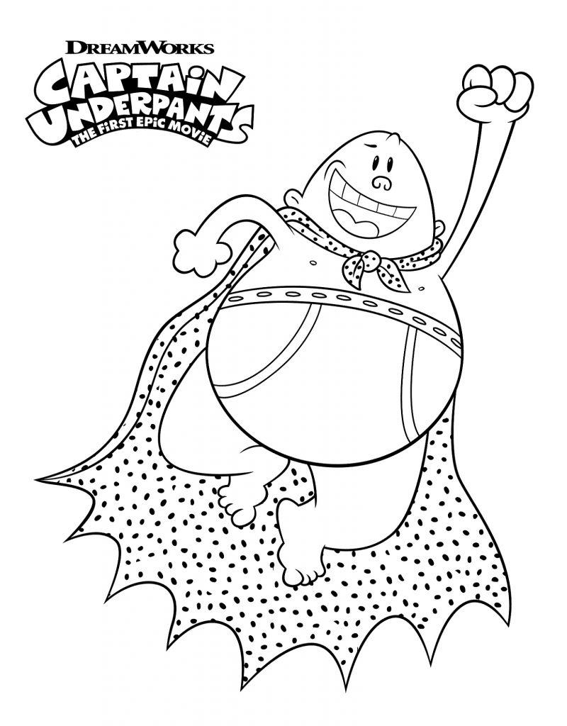 Captain Underpants Coloring Pages Cartoon