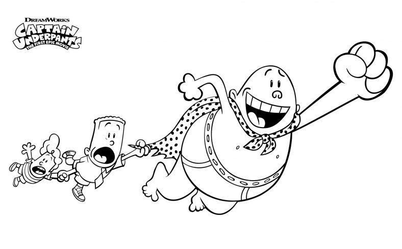 Captain Underpants Coloring Pages Doodle