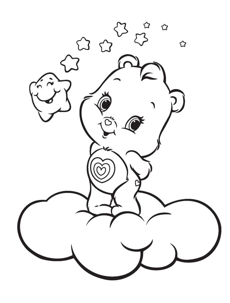 Care Bear Coloring Pages Cartoon