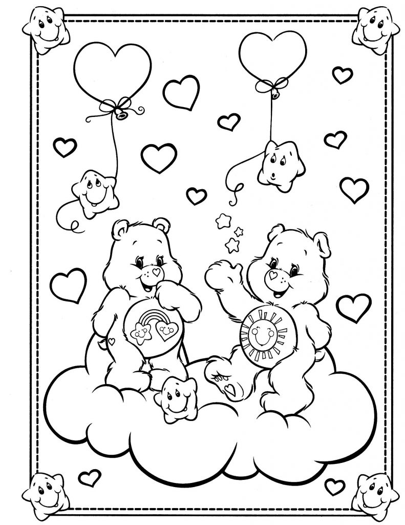 Care Bear Coloring Pages Disney