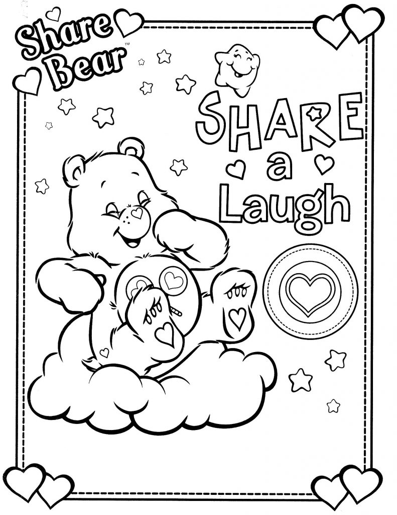Care Bear Coloring Pages Funshine