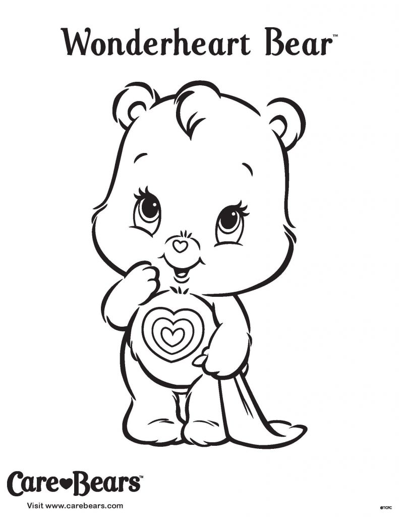 Care Bear Coloring Pages Wonderheart Bear