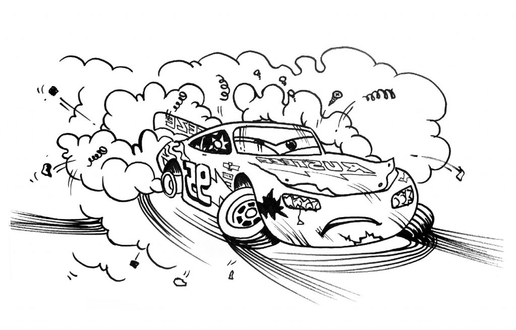 Cars 3 Coloring Pages Crash