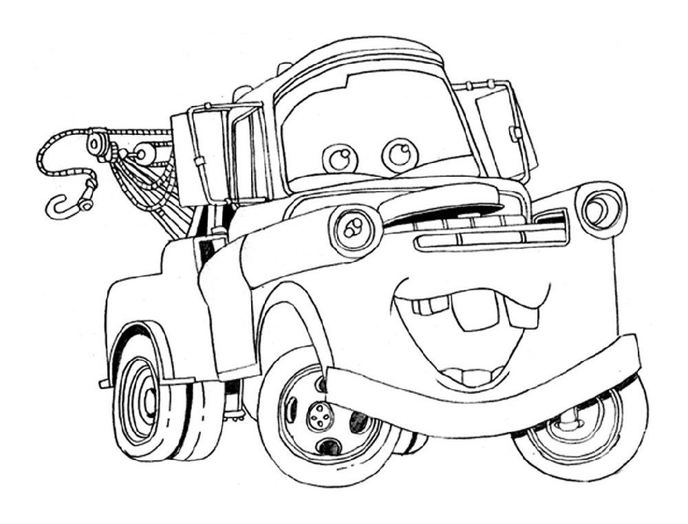 Cars 3 Coloring Pages Mater