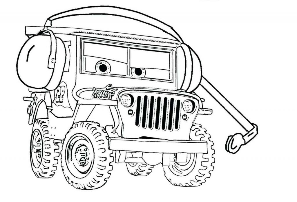 Cars 3 Coloring Pages Sarge