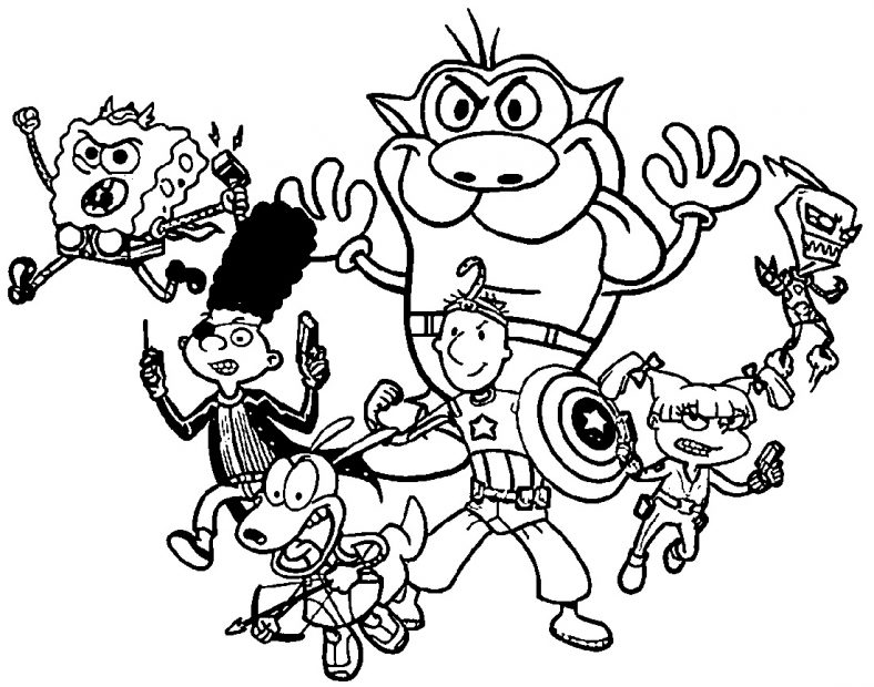 Cartoon Coloring Pages Nickelodeon