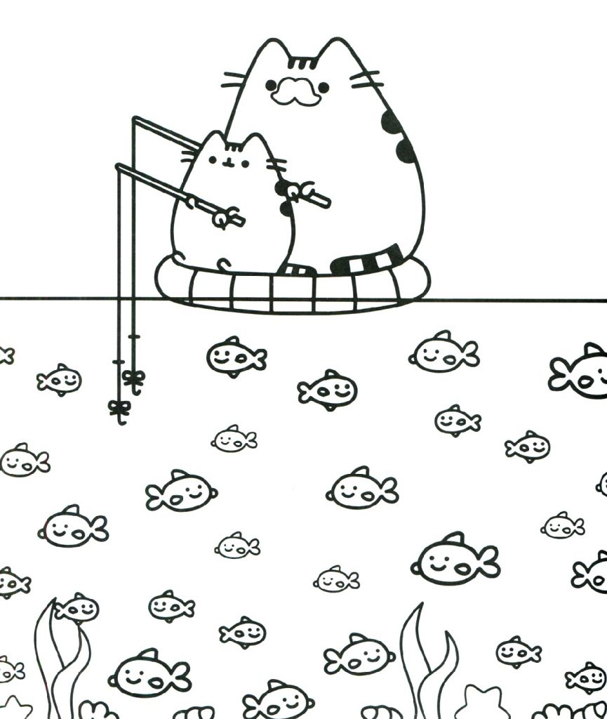 Cartoon Coloring Pages Pusheen