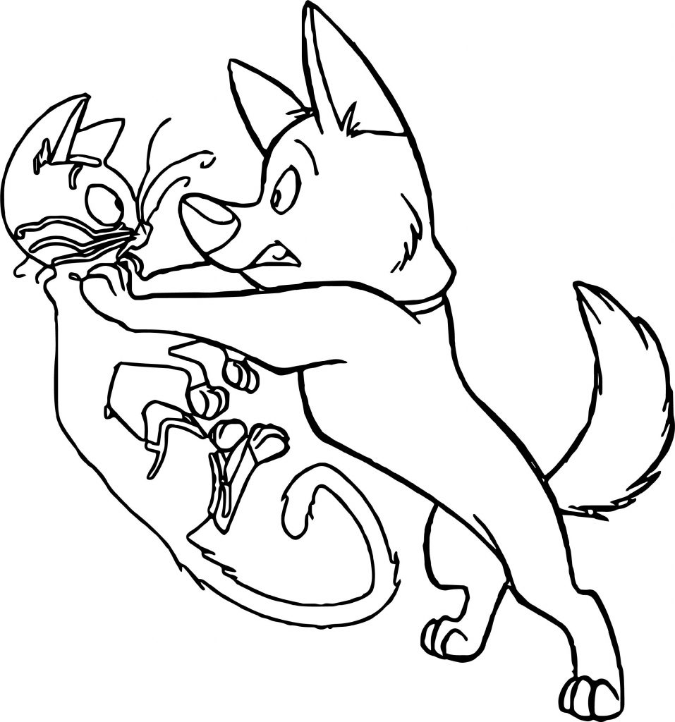 Cat And Dog Coloring Pages Bolt