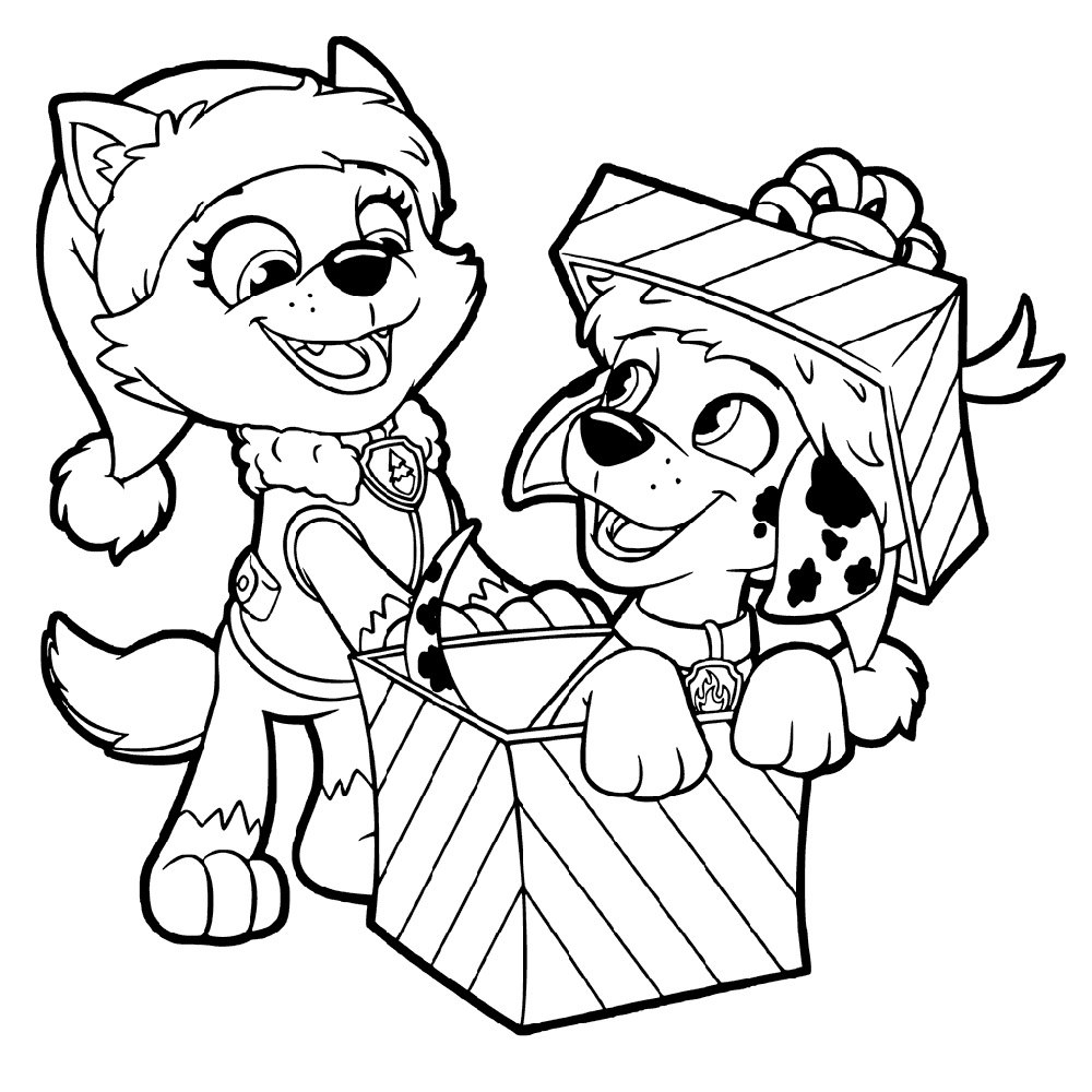Cat And Dog Coloring Pages Christmas