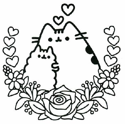 Cat Coloring Pages Pusheen